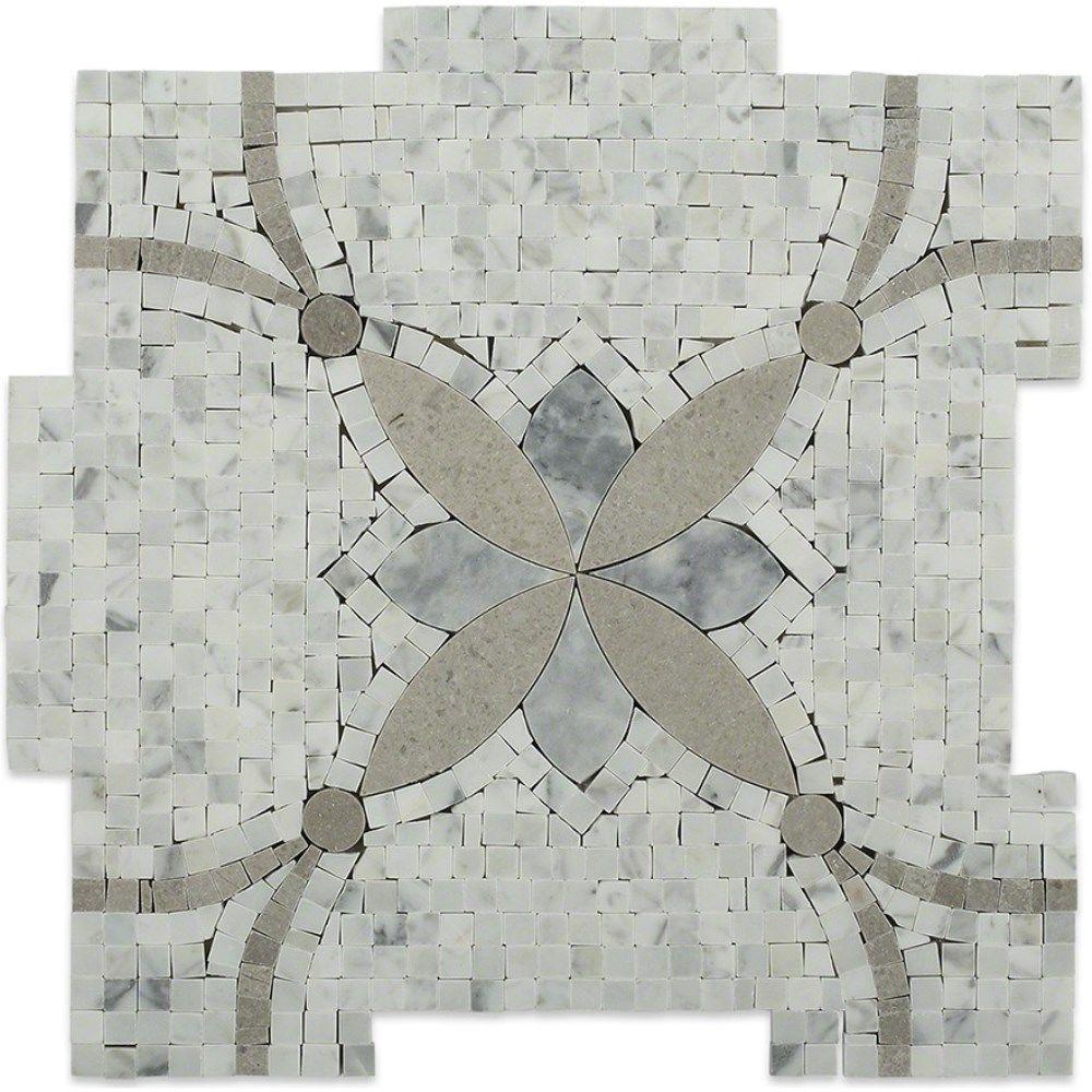 Splashback Tile Garden Butterfly 12 In. X 12 In. X 10 Mm Marble Mosaic