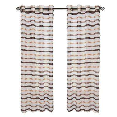 Taupe Sonya Grommet Curtain Panel, 84 in. Length