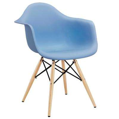 Pyramid Blue Dining Arm Chair