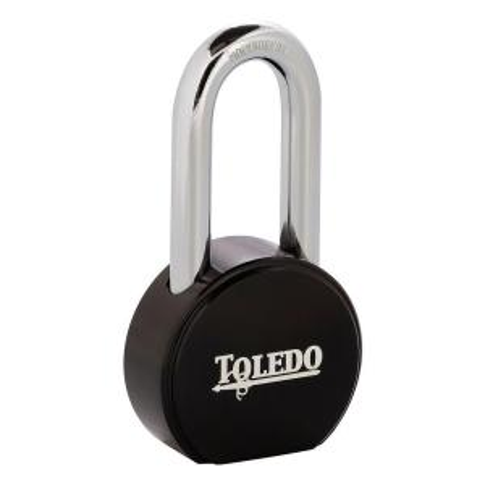 Toledo Black Series Super Duty Solid Steel Long Shackle Padlock with Black... by Toledo Black Series