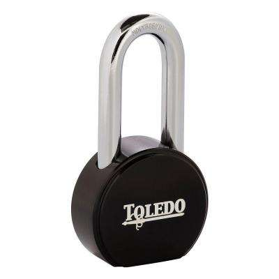 Black Series Super Duty Solid Steel Long Shackle Padlock with Black Electric-Coating