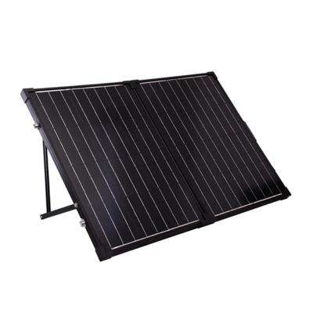 Suitcase 100-Watt 12-Volt Monocrystalline Foldable Solar Panel for RV, Boat, Solar System
