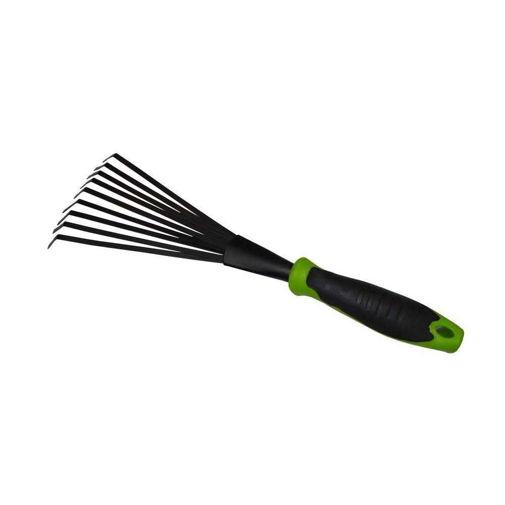 G & F Garden Tool Steel Fan Rake