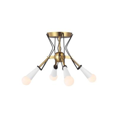 ED Ellen DeGeneres Crafted by Generation Lighting Piro 10.125 in. 4-Light Burnished Brass Flush Mount