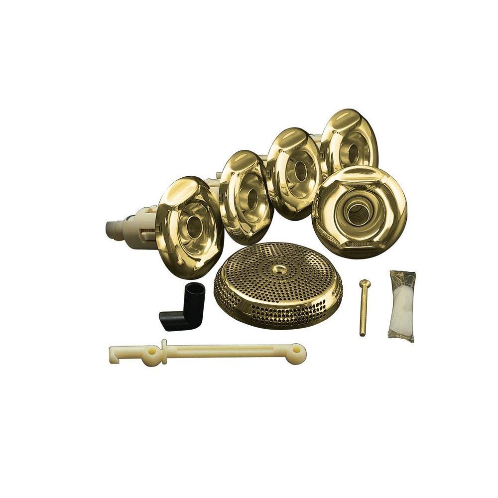 Flexjet Whirlpool Trim Kit in Brass