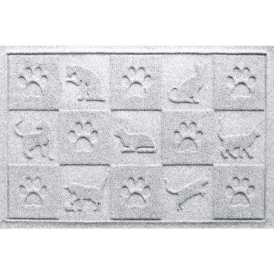White 24 in. x 36 in. Cat in the Mat Pet Mat