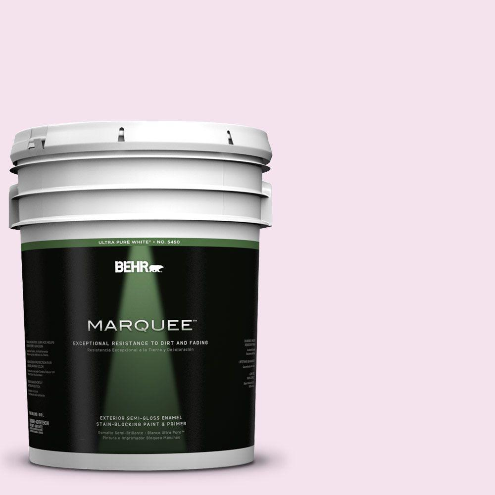 BEHR MARQUEE 5-gal. #690C-2 Pink Amour Semi-Gloss Enamel Exterior Paint