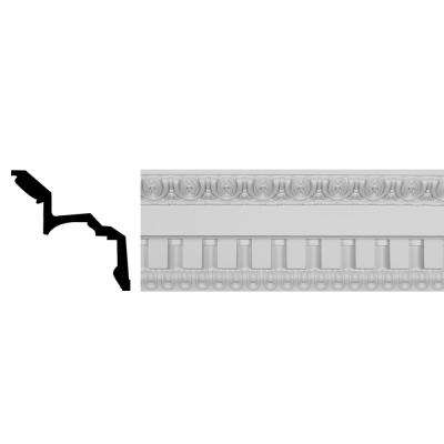 8-3/4 in. x 7-3/4 in. x 95-3/4 in. Polyurethane Dentil Crown Moulding