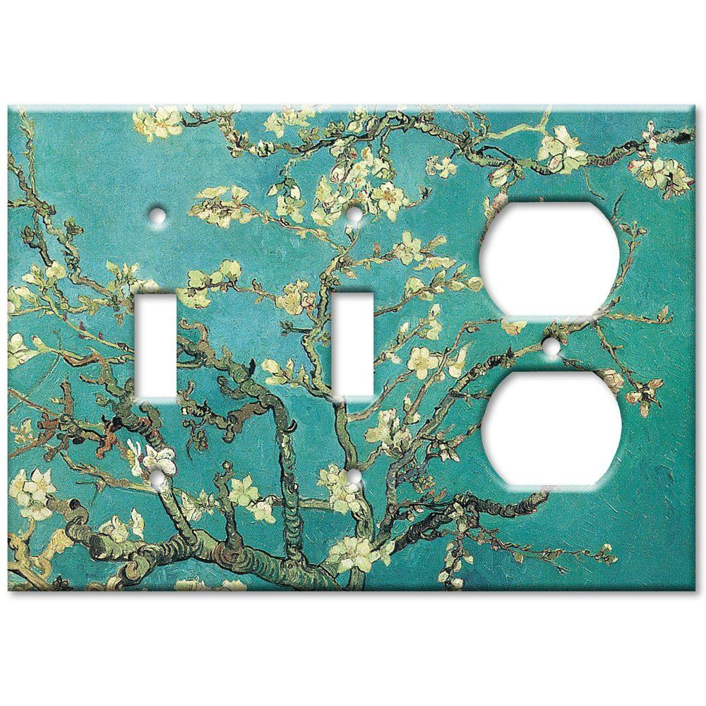 Art Plates Van Gogh Almond Blossoms 2 Switch/Outlet Combo Wall Plate