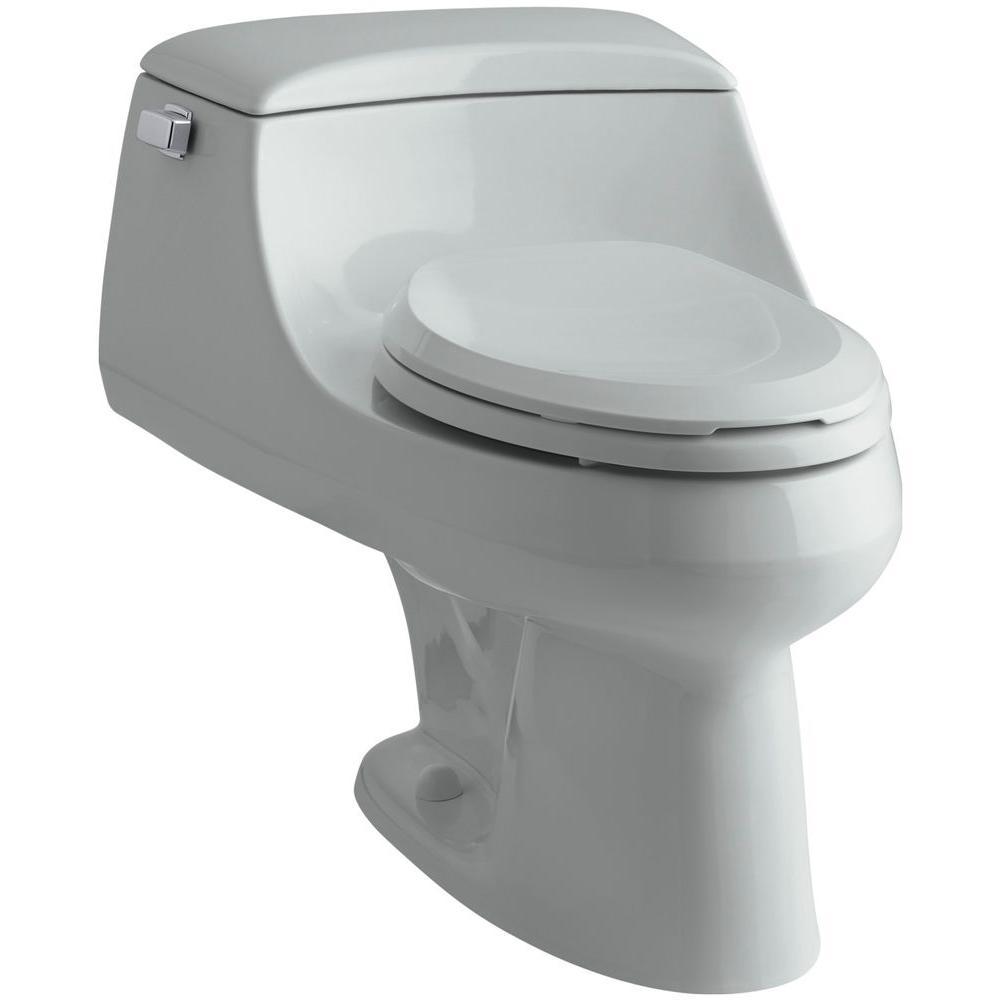 San Raphael 1-piece 1.6 GPF Single Flush Elongated Toilet in Ice Grey