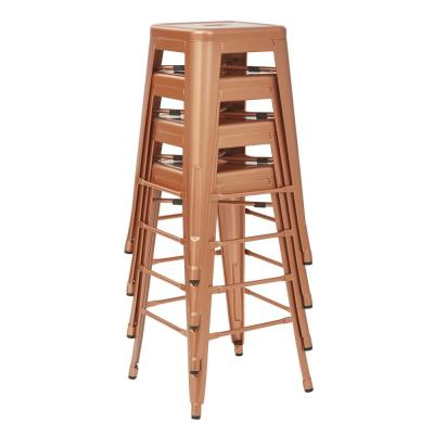 Bristow 26 in. Copper Metal Bar Stools (2-Pack)