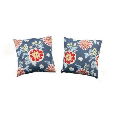 Washed Blue Outdoor Throw Pillow (2-Pack)
