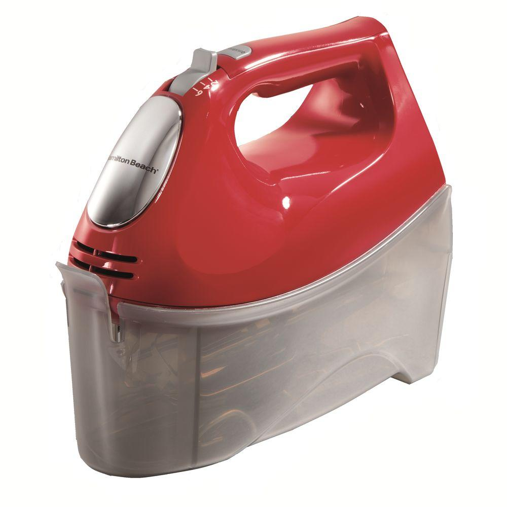 Hamilton Beach 6-Speed Hand Mixer in Red
