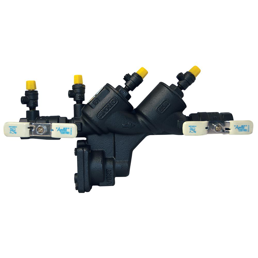 3/4 in. Reduced Pressure Backflow Preventer, Lead Free, Black