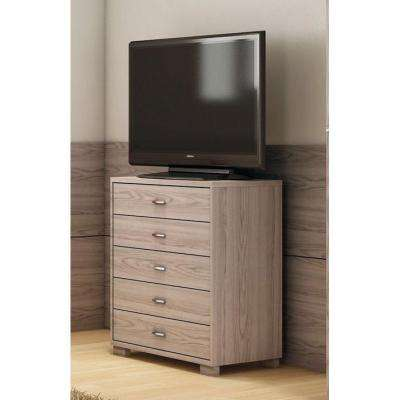 Astor 5-Drawer Nature White Chest