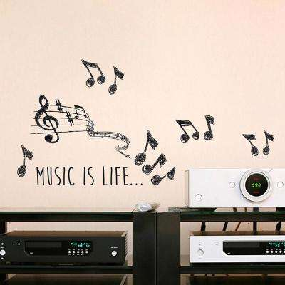 Black Music Wall Decal Set