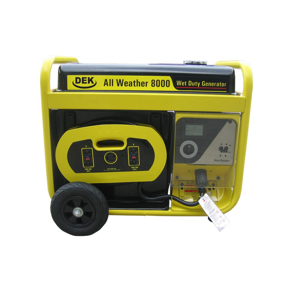 Beast 10,000-Watt Surge All Weather Electric Start Generator, Removable  Control Panel, 420cc, 15 HP, 100% Copper Alternator
