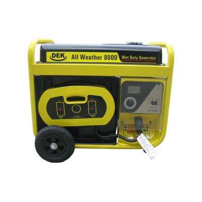 10,000-Watt Surge All Weather Electric Start Generator, Removable Control Panel, 420cc, 15 HP, 100% Copper Alternator
