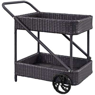 Replenish Outdoor Patio Beverage Cart in Espresso