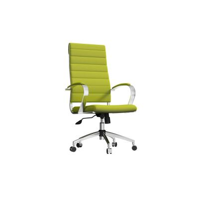 Green Swivel High Back Vegan Leather Ergonomic Chairs Office Desk Chair with Adjustable Height and Lumbar Support