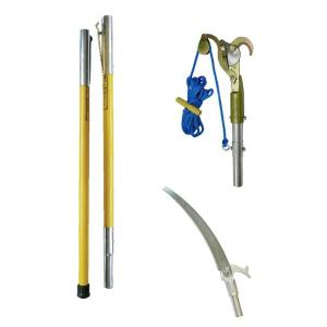 Jameson 1.25 inch Bypass Pruner with 13 inch Pruning Saw and 2 Fiberglass Poles by Jameson