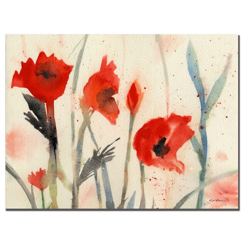 26 in. x 32 in. Poppies Canvas Art