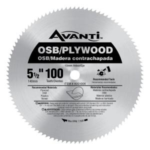 Avanti 5 12 in x 100 teeth osbplywood saw blade a05100x the avanti 5 12 in x 100 teeth osbplywood saw blade a05100x the home depot greentooth Gallery