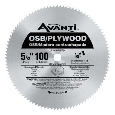 5-1/2 in. x 100-Teeth OSB/Plywood Saw Blade