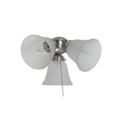 Basic-Max 3-Light Satin Nickel Ceiling Fan Shades Light Kit