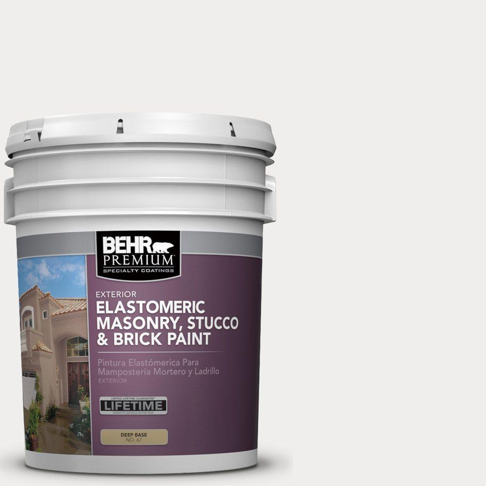 5 gal. #MS-47 Mountain Summit Elastomeric Masonry, Stucco and Brick Exterior Paint