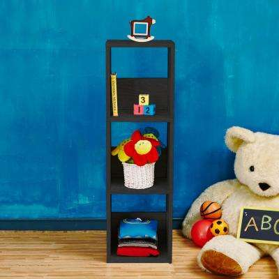 Trio Eco zBoard Tool Free Assembly Black Open Bookcase