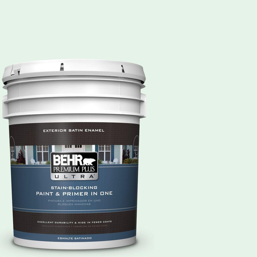 BEHR Premium Plus Ultra 5-gal. #450A-1 Crystal Gem Satin Enamel Exterior Paint