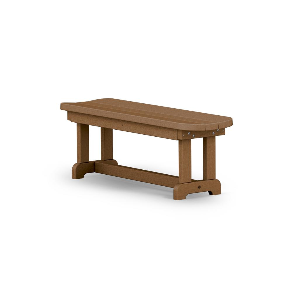 Park 48 in. 2-Person Teak Plastic Outdoor Patio Bench