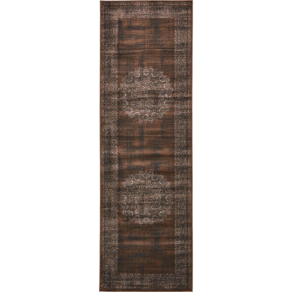 Imperial Cypress Chocolate Brown 3' 0 x 9' 10 Runner Rug