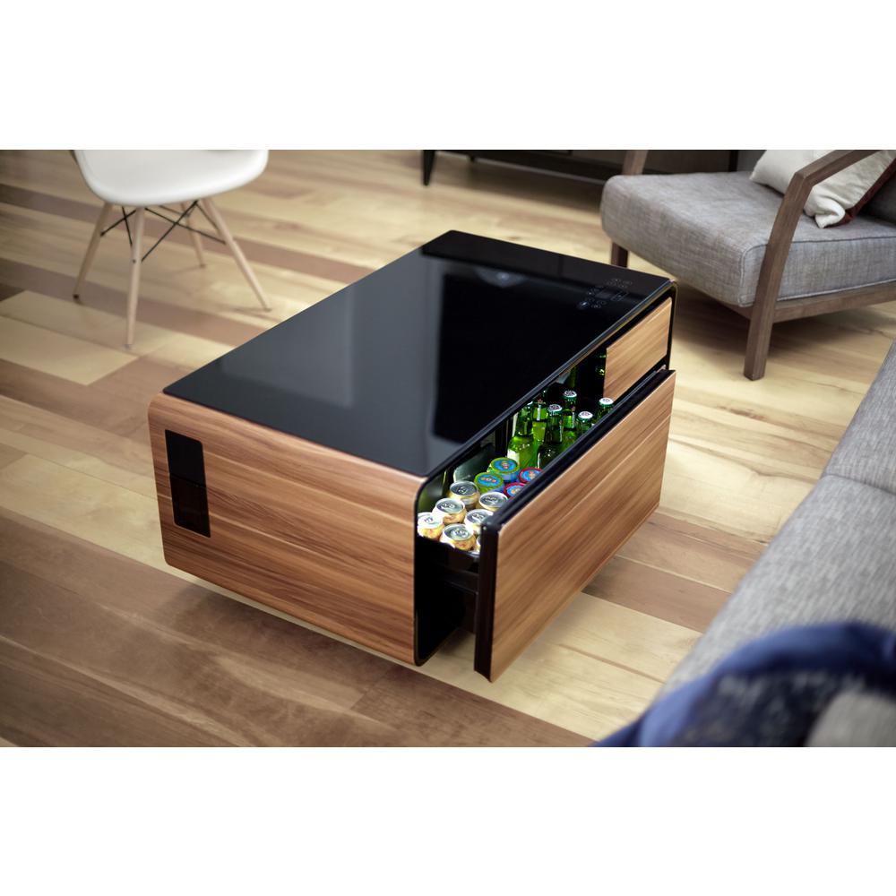 Internet 305360783 Sobro Black And Wood Grain Coffee Table