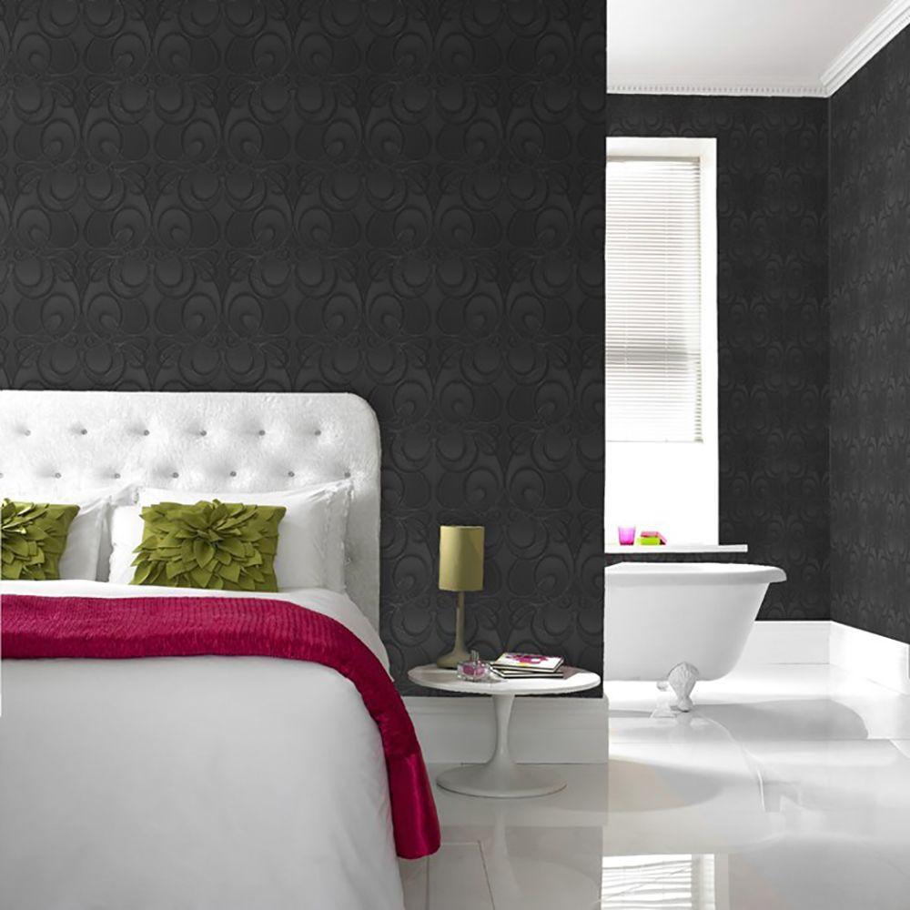 Graham & Brown Jazz Black Wallpaper