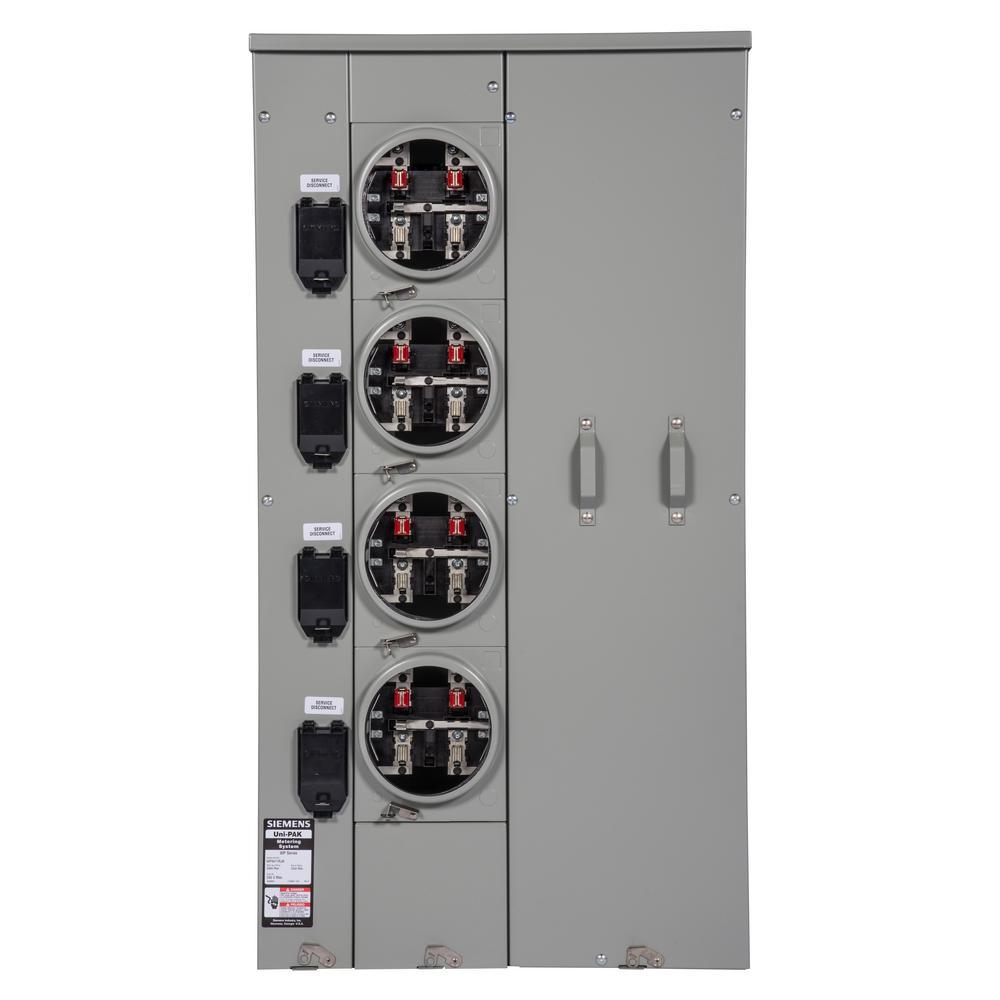 Uni-PAK 4-Gang 400 Amp Ringless Style Multi-Family Metering
