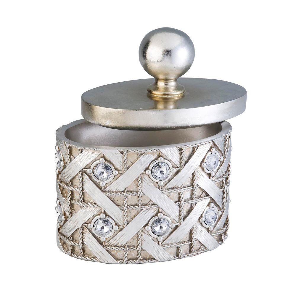 ORE International 8 in. Dazzle Jewelry Box in Silver