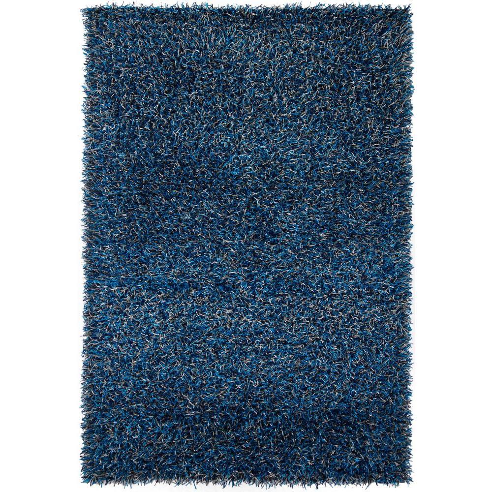 Chandra Zara Navy Blue Grey 9 Ft X 13 Ft Indoor Area Rug