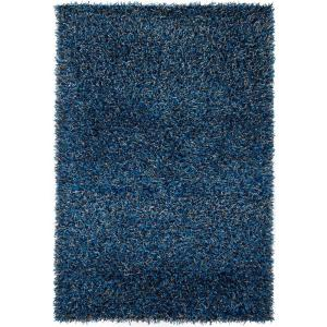 Chandra Zara Navy Blue Grey 9 Ft X 13 Ft Indoor Area Rug