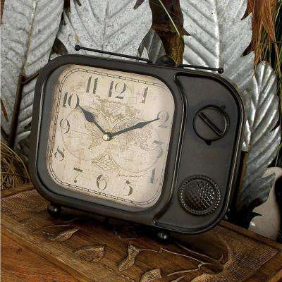8 in. x 9 in. Multi Vintage Television Set Table Clocks (Set of 4)