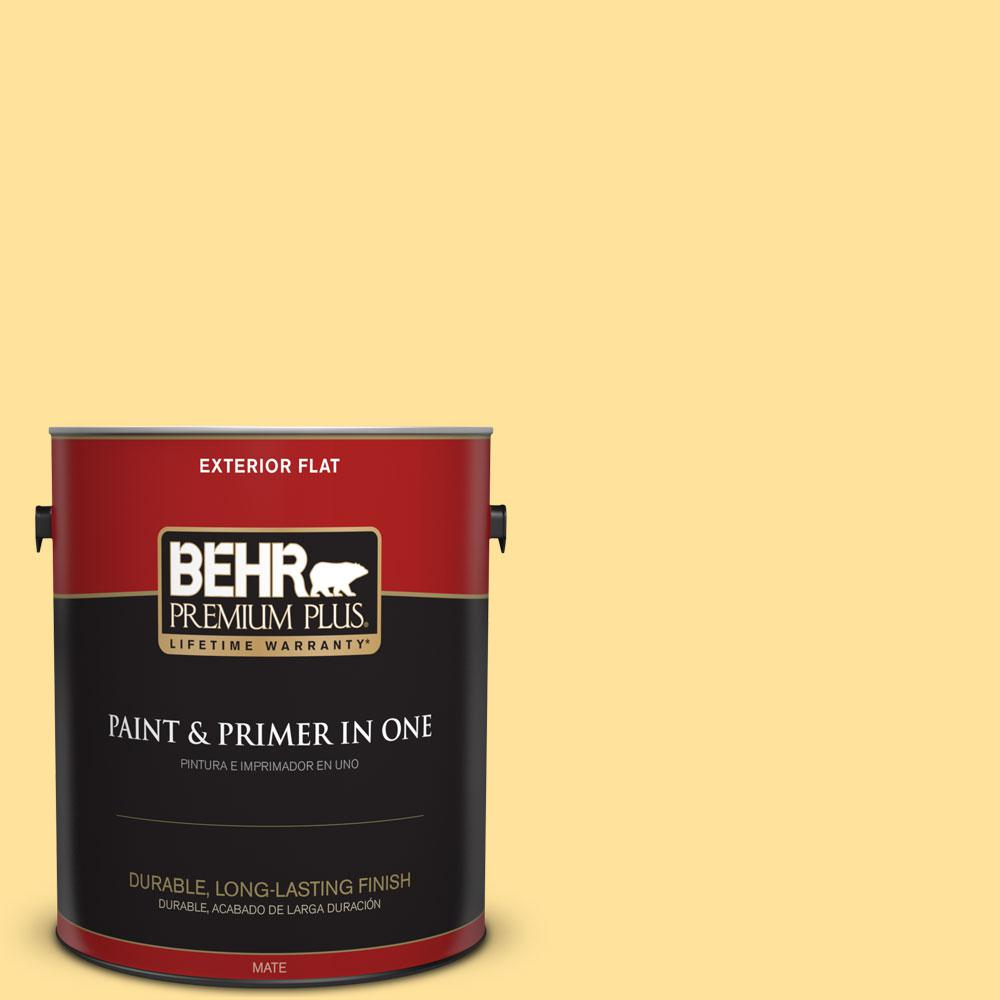 1-gal. #P290-3 Roasted Corn Flat Exterior Paint