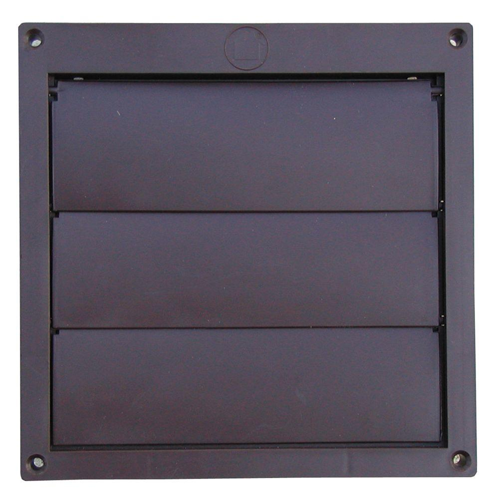 6 In Louvered Plastic Flush Exhaust Hood