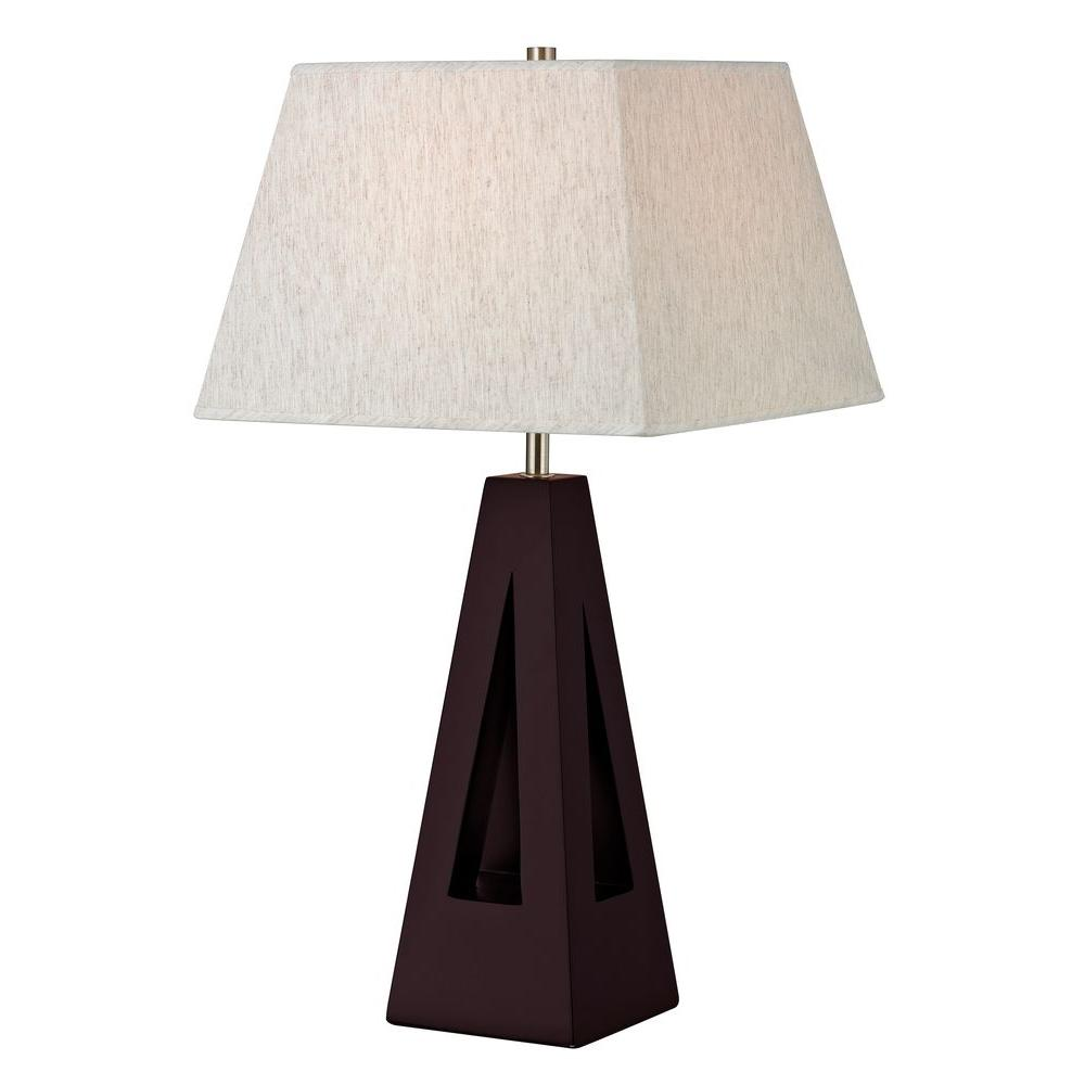 Ordinaire Filament Design Lavelle 26 In. Mahogany Table Lamp