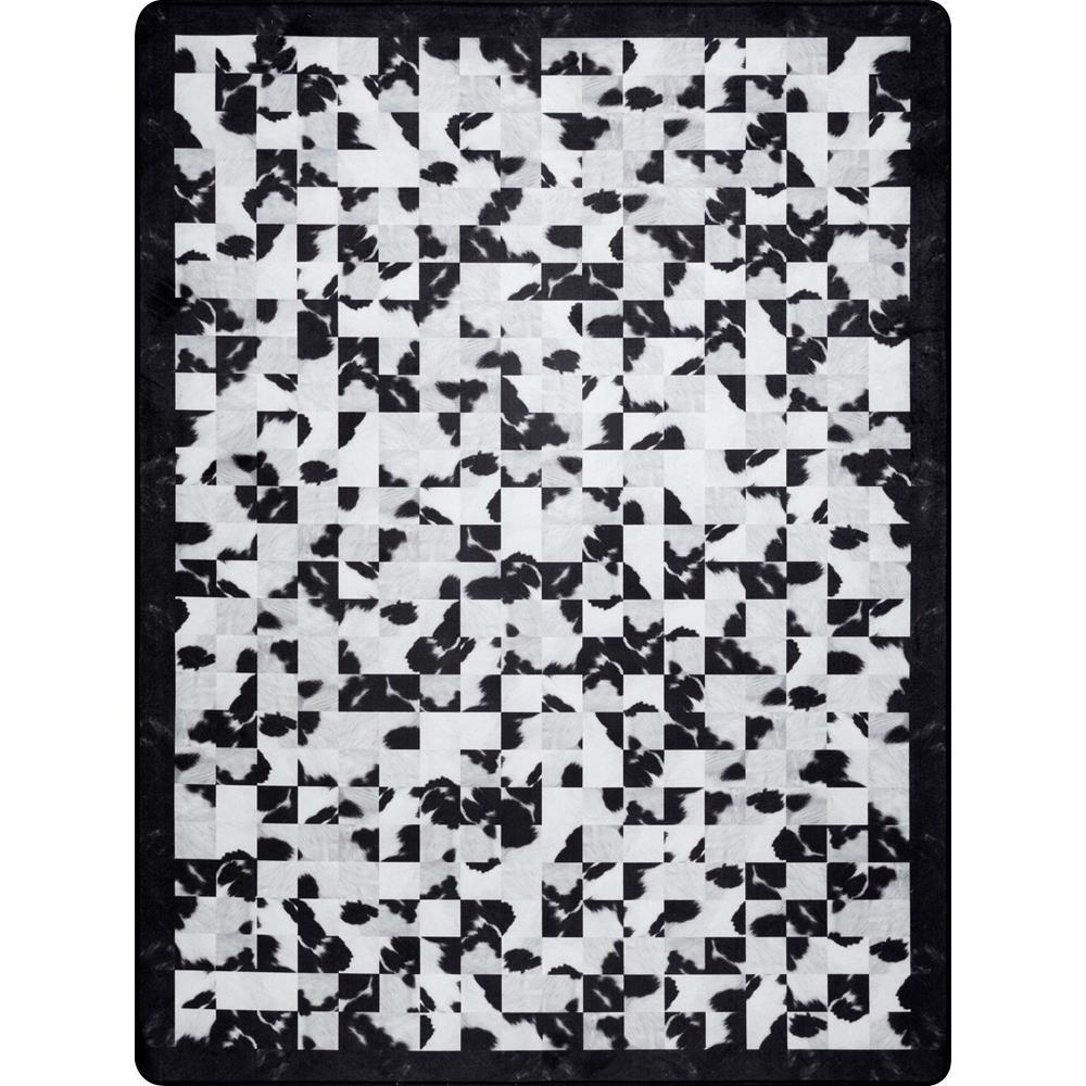 Nuloom Black And White Rug: NuLOOM Niesha Abstract Tiles Black And White 5 Ft. X 7 Ft