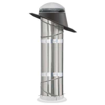 10 in. Impact Dome Sun Tunnel Tubular Skylight with Rigid Tunnel and Pitched Flashing