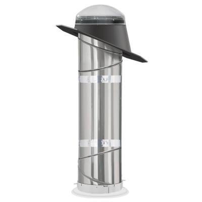14 in. Impact Dome Sun Tunnel Tubular Skylight with Rigid Tunnel and Pitched Flashing