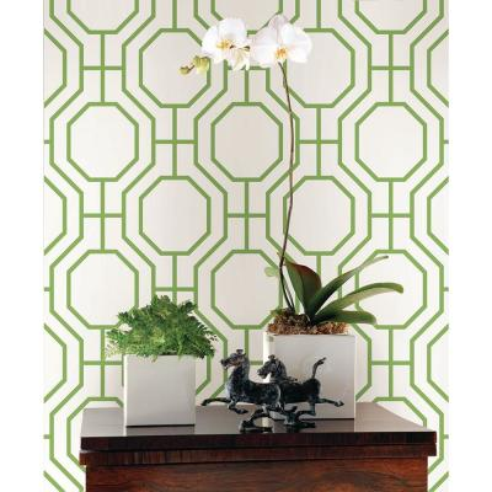 Circuit Green Modern Ironwork Wallpaper