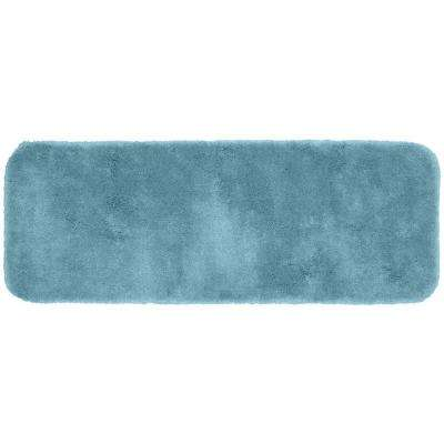 Finest Luxury Basin Blue 22 in. x 60 in. Washable Bathroom Accent Rug