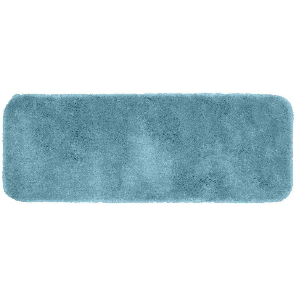 Finest Luxury Basin Blue 22 in. x 60 in. Washable Bathroom